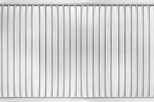 Sliver corrugated metal texture surface of industrial building wall background Premium Photo
