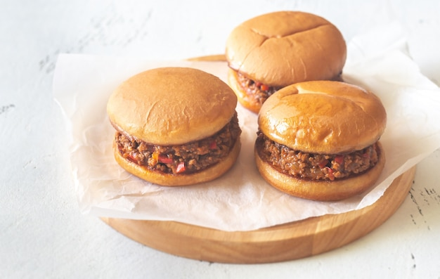 Sloppy joe - american sandwich Premium Photo