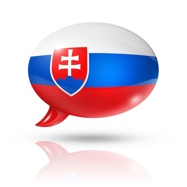 Slovakian flag speech bubble Premium Photo
