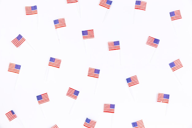 Small banners with image of american flag Free Photo