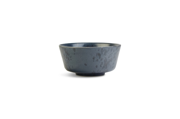 Small grey bowl under the lights isolated on a white background Free Photo