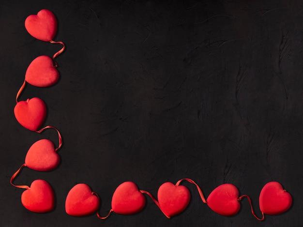 Small hearts for valentines day Premium Photo