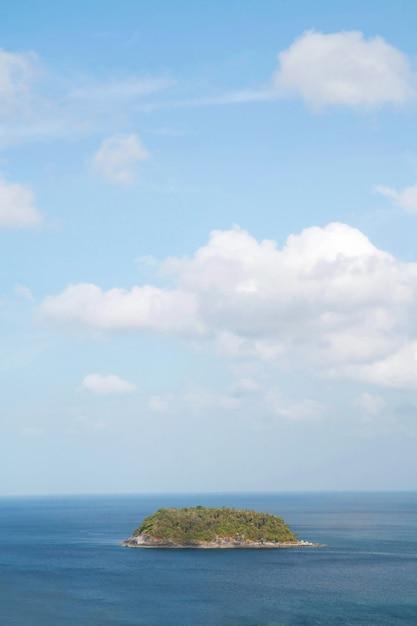 Small island in blue sea Premium Photo