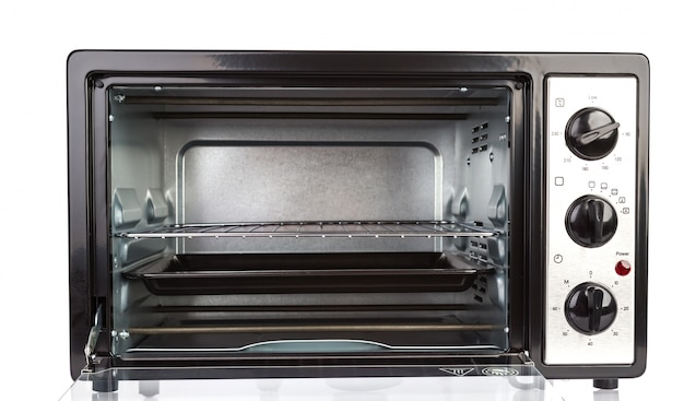 Small oven on white background Free Photo