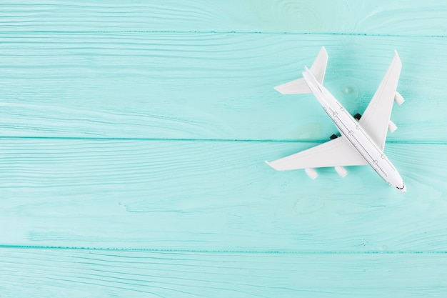 Small toy plane on wood Free Photo