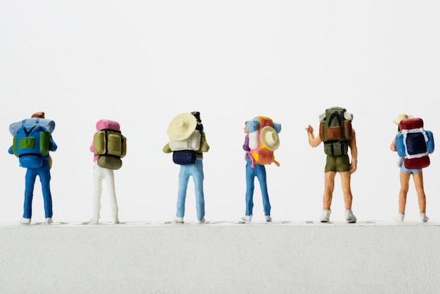 Small traveller figure for world tourism day Free Photo