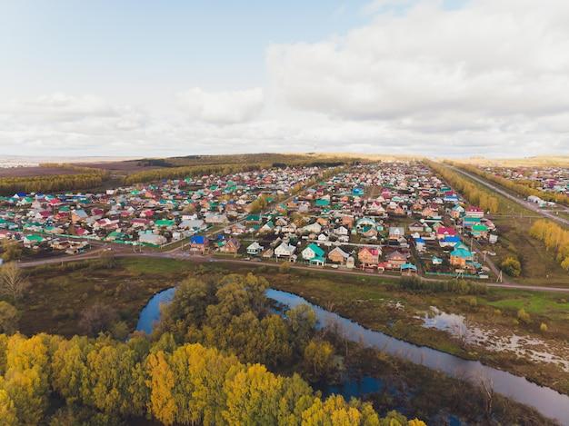 Small village near the river Premium Photo