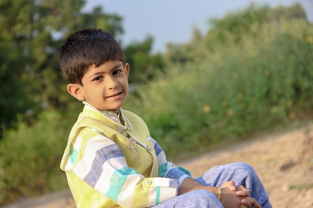 Smart indian child Premium Photo