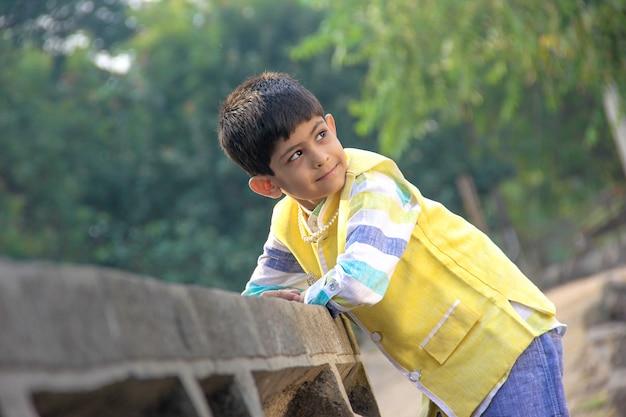 Smart indian child Premium Photo
