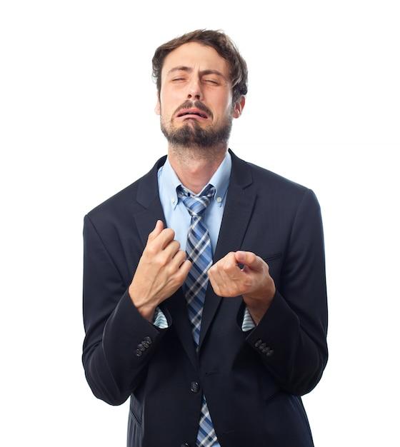 Smart man crying Free Photo