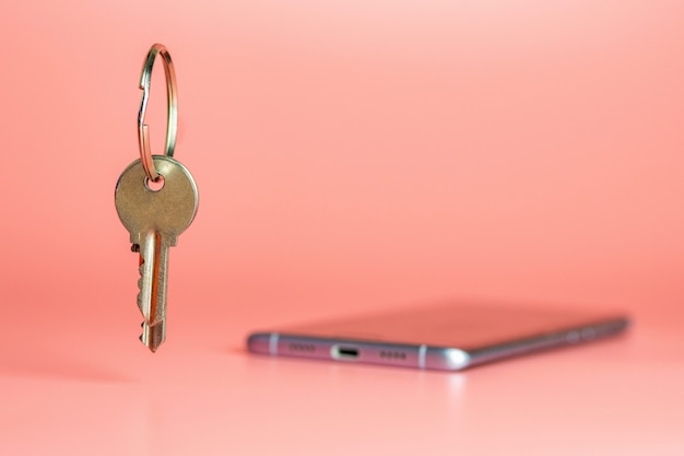 Smart phone security concept, protection of mobile data network transfer Premium Photo