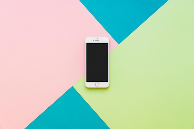 Smartphone On Colorful Background Photo Free Download