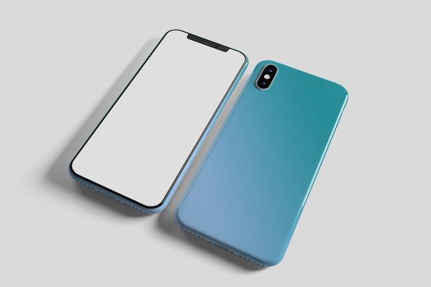 Smartphone screen and case  - 3d rendering Premium Photo