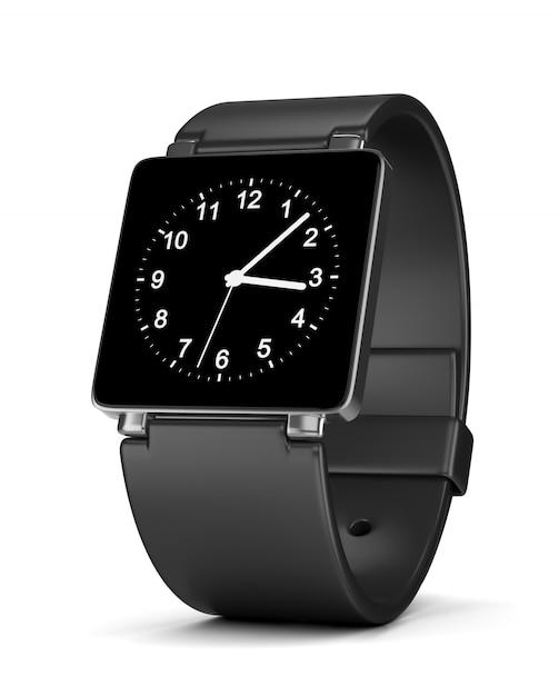 白のスマートウォッチアナログ時計 Premium写真