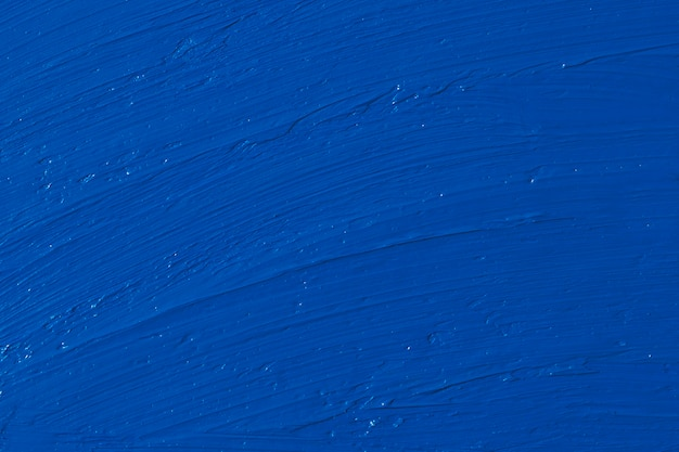 Smears of oil paint. color of the year 2020 - classic blue. color trend palette. Premium Photo