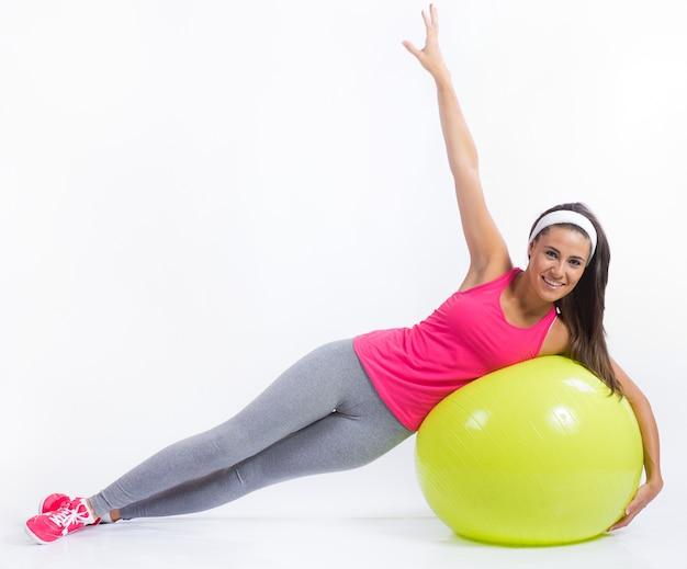 Smile girl beautiful fitness slim Free Photo