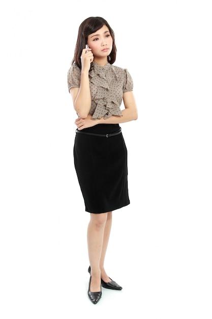 笑顔のビジネス女性 Premium写真