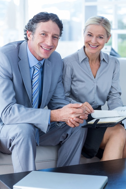 Helpful Mature Office Manager Flirting With Young Woman