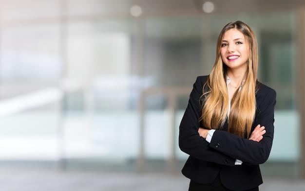 Smiling businesswoman portrait Premium Photo