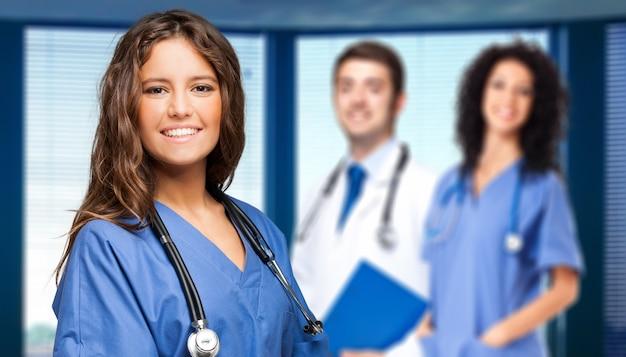 Smiling doctors group Premium Photo
