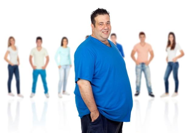Smiling fat woman Premium Photo