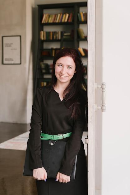Smiling lawyer posing Free Photo
