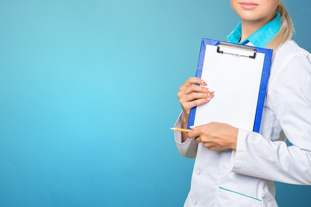 Smiling medical woman doctor Premium Photo