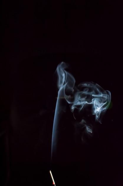 Smoke on black background Premium Photo