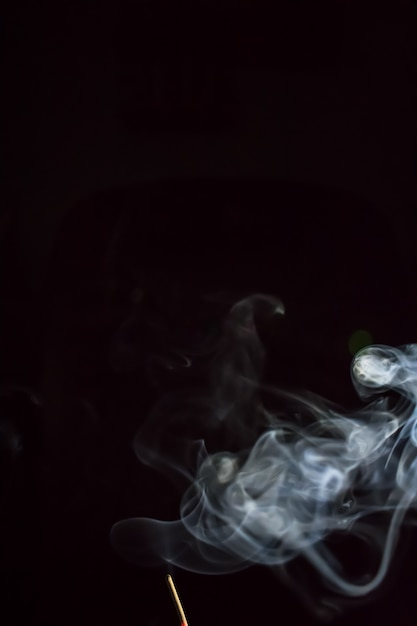 Smoke on black background Premium Photo
