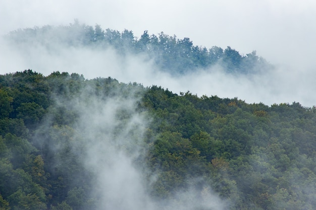 Smoke covering the mountain medvednica Free Photo