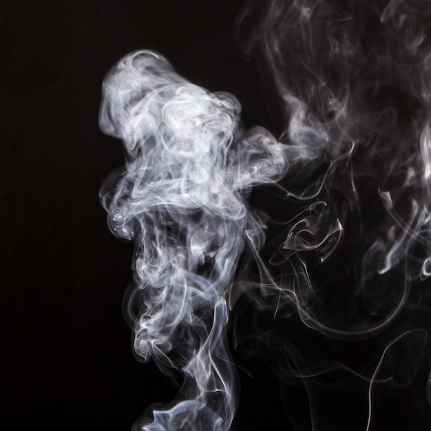 Smoke overlay movement on black background Photo | Free Download