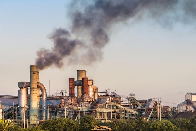 Smokestack in factory Premium Photo