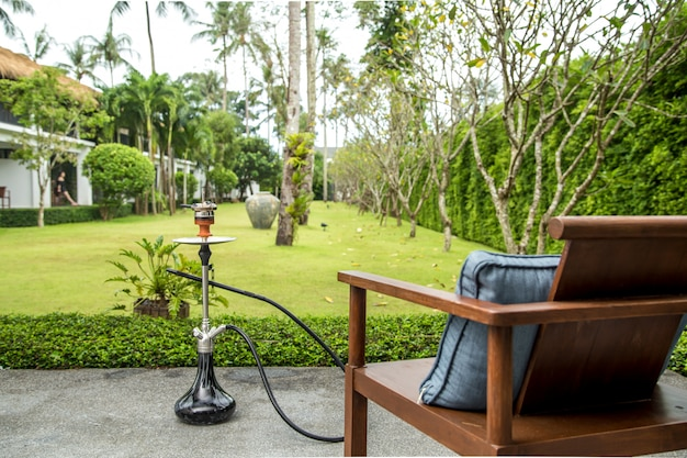 Smoking hookah on vacation Free Photo