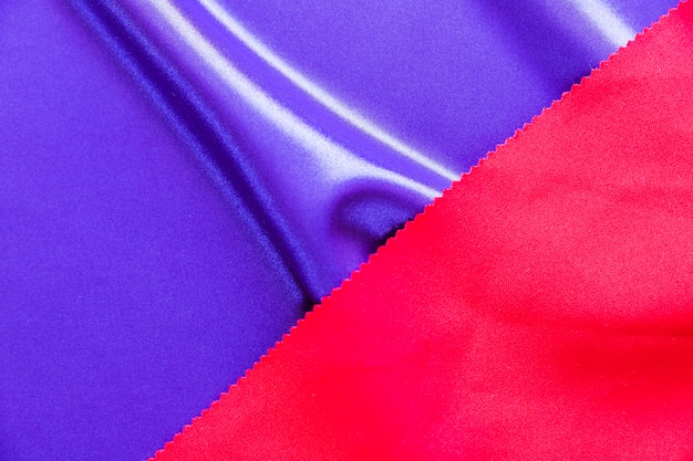 Smooth blue and red colored fabric texture Free Photo
