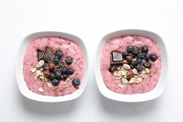 Смузи с шоколадом и ягодами Бесплатные Фотографии