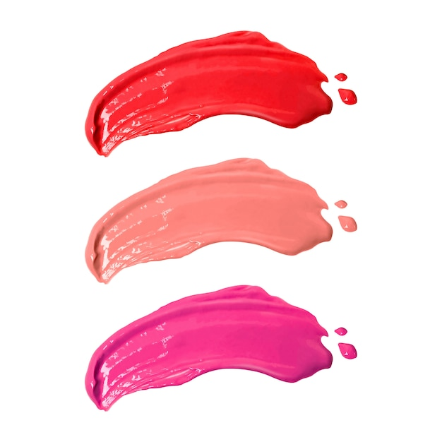 Smudge lipsticks isolated on white background. Premium Photo
