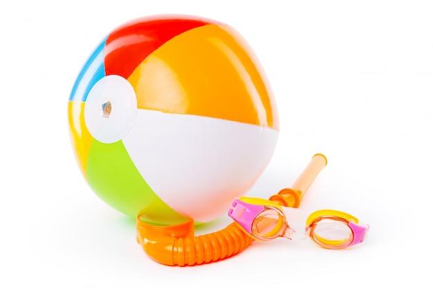 Snorkel and diving mask Premium Photo