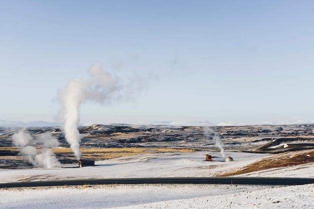 Заснеженные равнины в исландии Бесплатные Фотографии
