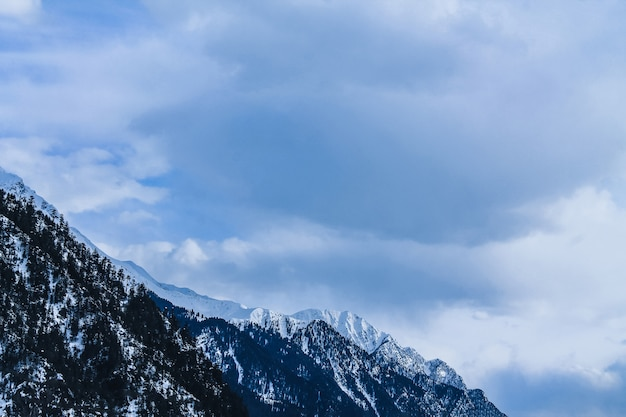 Snow mountain in kalam swat scenery landscape Premium Photo