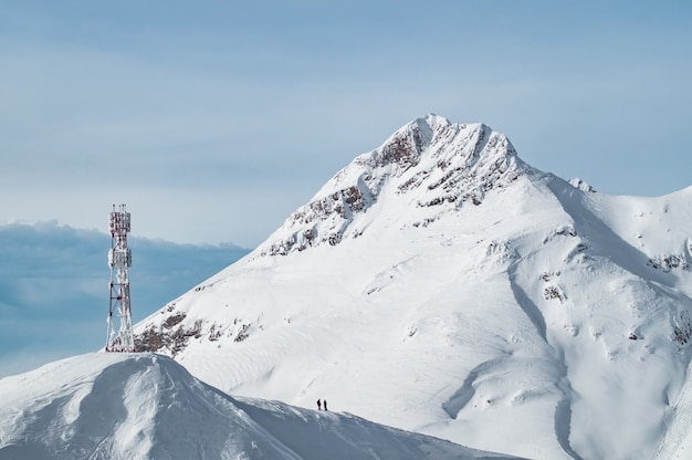 Snow mountains of krasnaya polyana Premium Photo