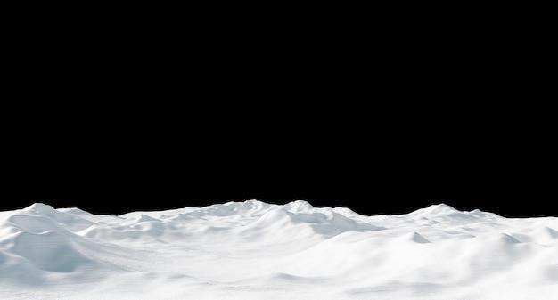 Snowdrift isolated on black Premium Photo