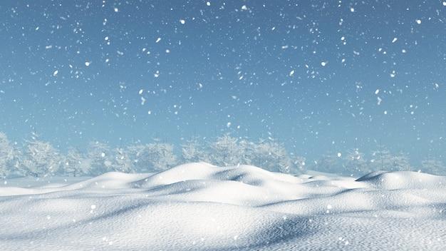 Snowy landscape Free Photo