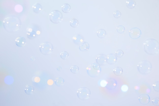 Soap bubbles background Premium Photo