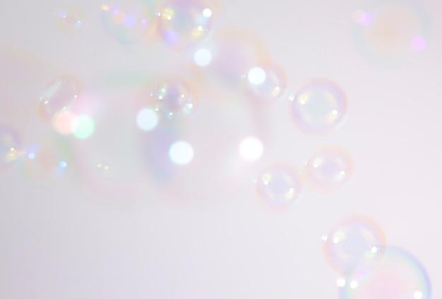 Soap bubbles background Premium Photo