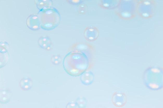 Soap bubbles, natural background Premium Photo