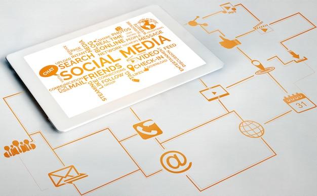 Социальные сети и сетевые технологии Premium Фотографии