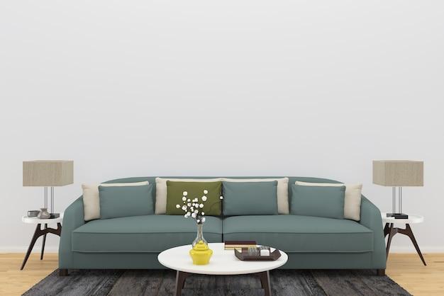sofa carpet wood floor wall living room template table lamp