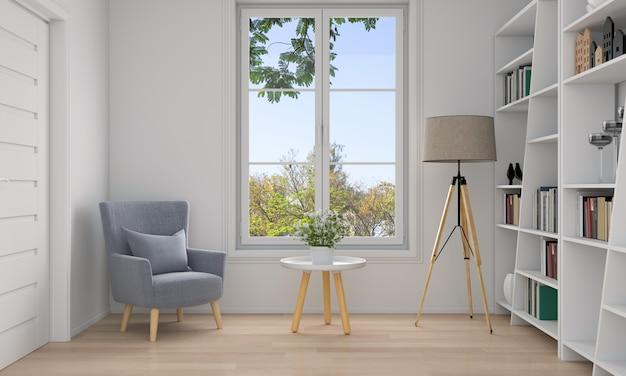 Sofa in white living room interior Premium Photo