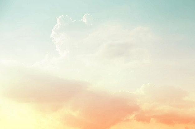 Soft cloudy abstract sky background in sweet color. Premium Photo