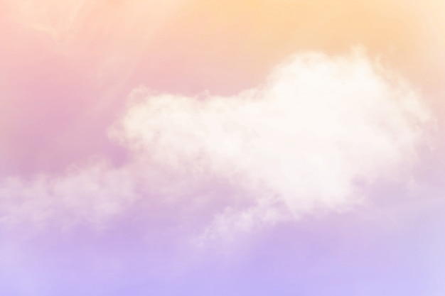 Soft cloudy is gradient pastel, abstract background Premium Photo